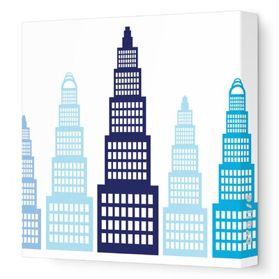 Avalisa Imagination - Skyscraper Stretched Wall Art