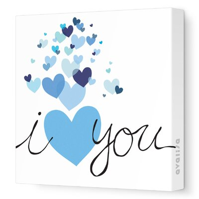 Avalisa Imaginations Hearts Stretched Canvas Art