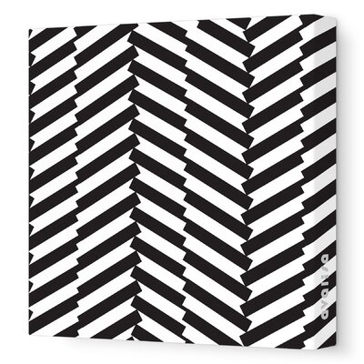 Avalisa Pattern Herringbone Stretched Canvas Art