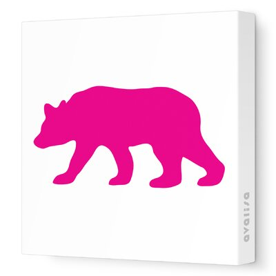 Avalisa Silhouettes Bear Stretched Canvas Art