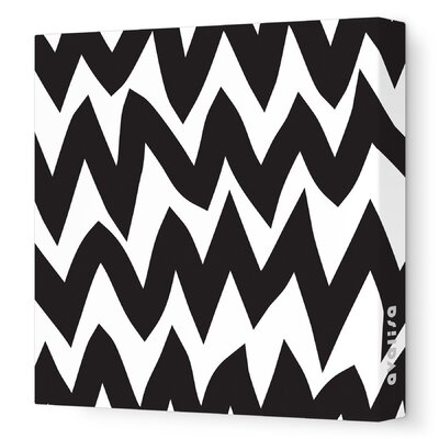 Pattern Zig Zag Stretched Canvas Art