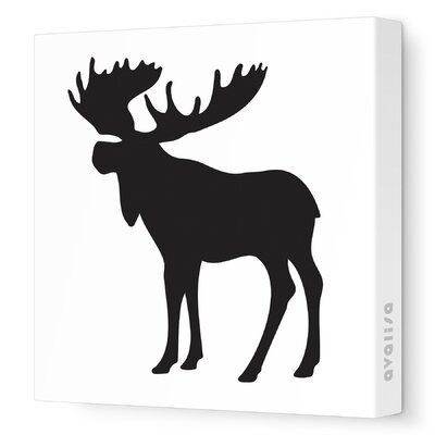 Avalisa Silhouette - Moose Stretched Wall Art