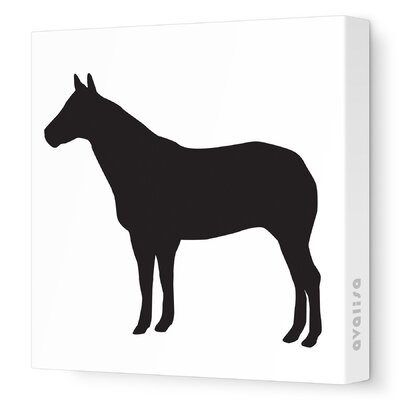 Avalisa Silhouette - Horse Stretched Wall Art