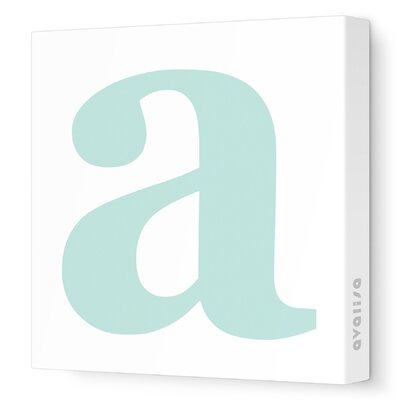 Avalisa Letter - Lower Case 'a' Stretched Wall Art