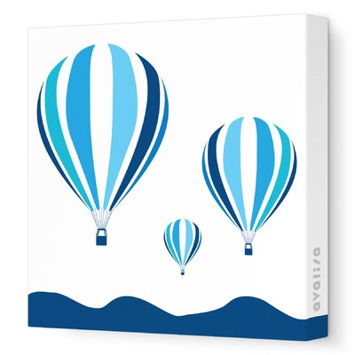 Avalisa Things That Go - Hot Air Balloons Stretched Wall Art
