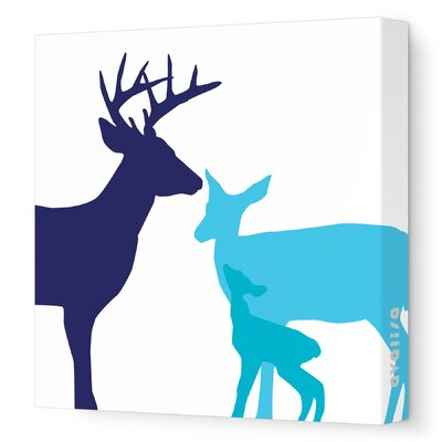 Avalisa Animals Deer Stretched Canvas Art
