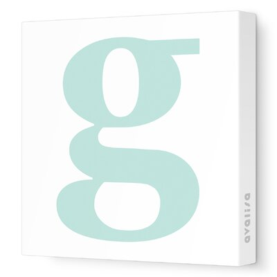 Avalisa Letter - Lower Case 'g' Stretched Wall Art