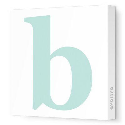 Avalisa Letter - Lower Case 'b' Stretched Wall Art