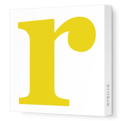 Avalisa Letter - Lower Case 'r' Stretched Wall Art