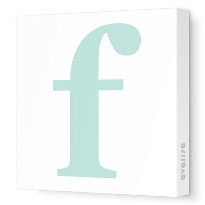 Avalisa Letter - Lower Case 'f' Stretched Wall Art