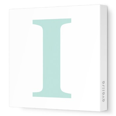 Avalisa Letter - Upper Case 'I' Stretched Wall Art
