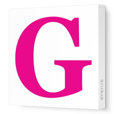 Avalisa Letters Upper Case 'G' Stretched Canvas Art