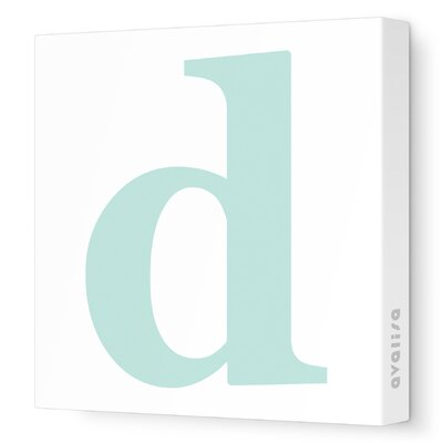 Avalisa Letter - Lower Case 'd' Stretched Wall Art
