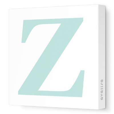 Avalisa Letters Upper Case 'Z' Stretched Canvas Art