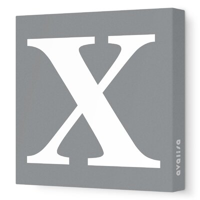 Avalisa Letters Upper Case 'X' Stretched Canvas Art