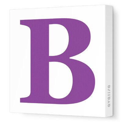 Avalisa Letter - Upper Case 'B' Stretched Wall Art