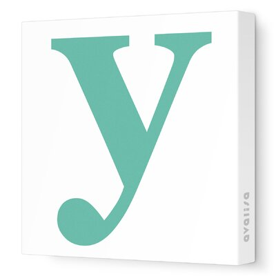 Avalisa Letters Lower Case 'y' Stretched Canvas Art