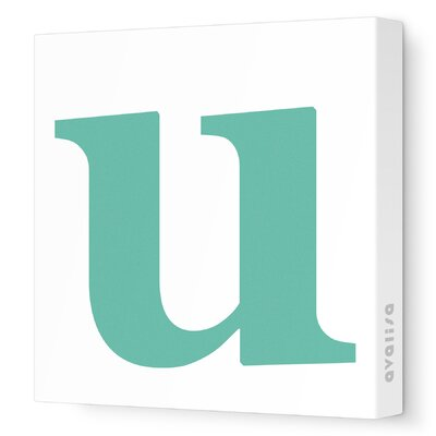 Avalisa Letter - Lower Case 'u' Stretched Wall Art