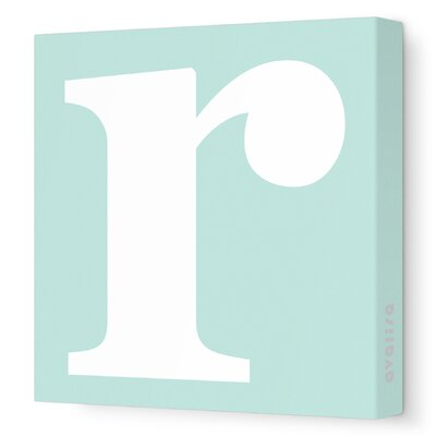 Avalisa Letters Lower Case 'r' Stretched Canvas Art