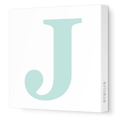 Avalisa Letter - Upper Case 'J' Stretched Wall Art
