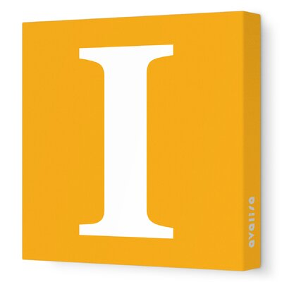 Avalisa Letters Upper Case 'I' Stretched Canvas Art