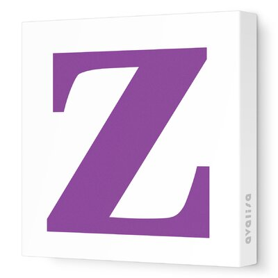 Avalisa Letters Lower Case 'z' Stretched Canvas Art