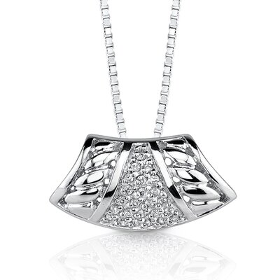 Oravo Bedazzling Style: Sterling Silver Enhancer Style Pendant Necklace with Cubic Zirconia
