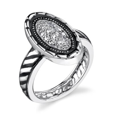 Exotic and Extraordinary Sterling Silver Designer Inspired Size 6 Cocktail Ring with Cubic Zirconia
