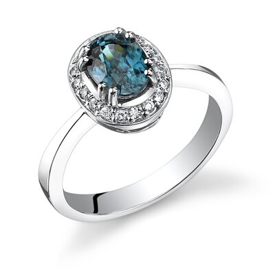 Classy 1.87 Carats Oval Shape Blue Zircon Diamond High Gem Quality Ring in 14 Karat ...