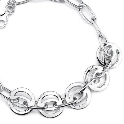 Oravo Celebrated Style Sterling Silver Designer Inspired Multi-Link Chain Bracelet