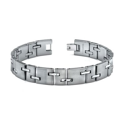 Tungsten Matte Finish tilted links Bracelet for Men