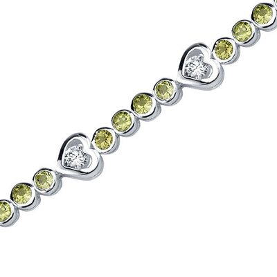 Dazzling Fascination Round Shaped Gemstone Bracelet in Sterling Silver