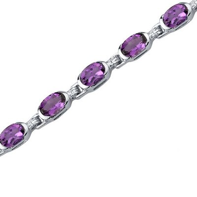 Oravo Exceptionally Stunning Oval Shaped Gemstone Bracelet in Sterling Silver