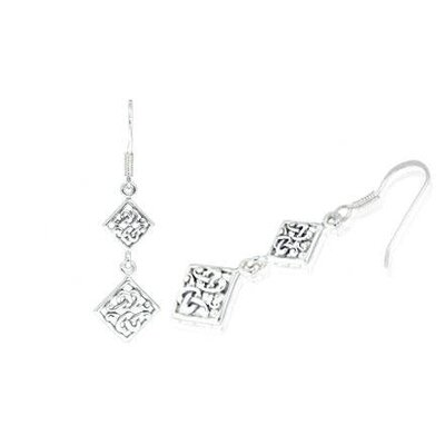 Oravo Bali Style Dangling Earrings in Sterling Silver