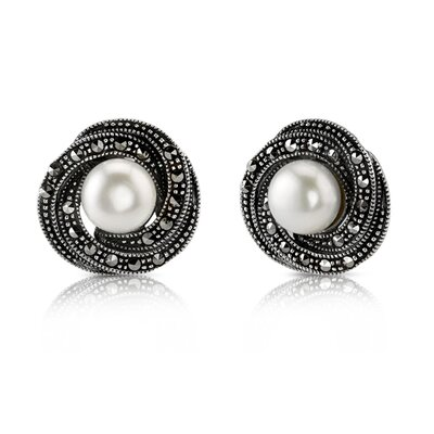 Sparkling Delight Whorl Stud Earrings in Sterling Silver