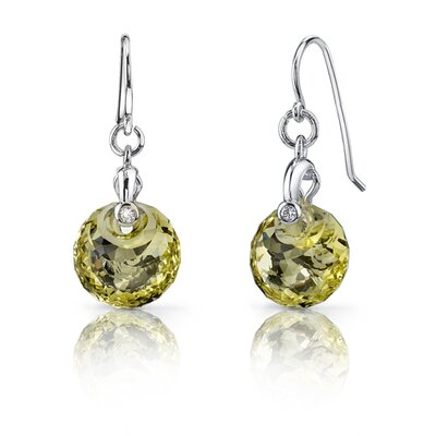Oravo Spherical Cut Alexandrite Fishhook Earrings Sterling Silver