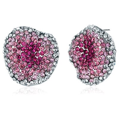 Oravo New Wave Powder Pink and Clear Earrings with Swarovski Elements
