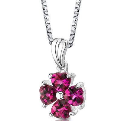 Irresistible Desire Heart Shape Checkerboard Cut Ruby Pendant in Sterling Silver
