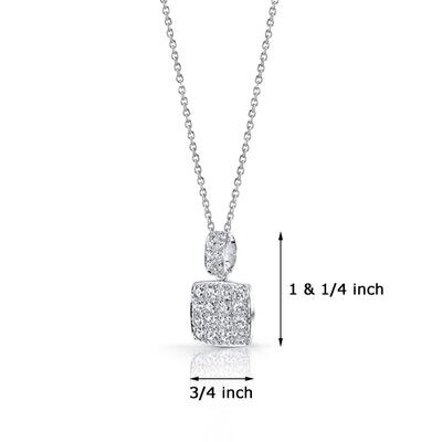 Oravo Classic Flair Pendant Necklace with Cubic Zirconia in Sterling Silver