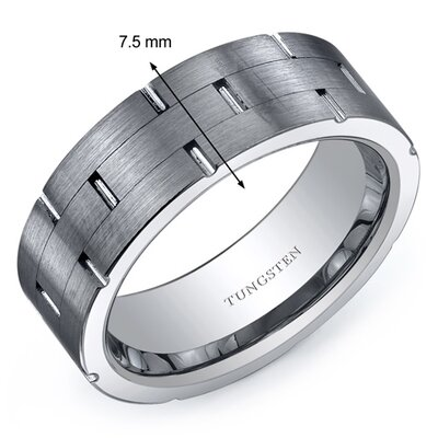 ... Brushed Finish 7mm Comfort Fit Mens Tungsten Carbide Wedding Band Ring