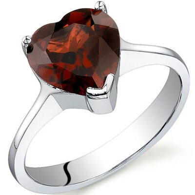 Cupids Heart 1.75 Carats Ring in Sterling Silver
