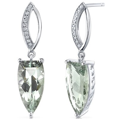 Half Marquise Cut Gemstone Earrings
