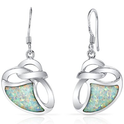 Opal Artistic Knot Dangle Earrings