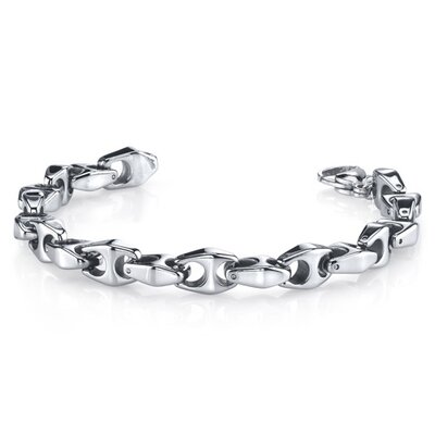 Heavy Duty Men's Tungsten Chain Link Bracelet