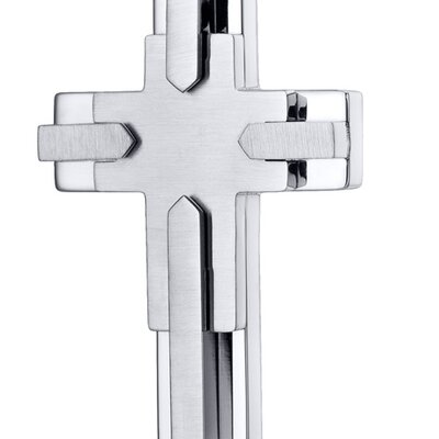 Oravo Multi-Layered Two Tone Stainless Steel Cross Pendant