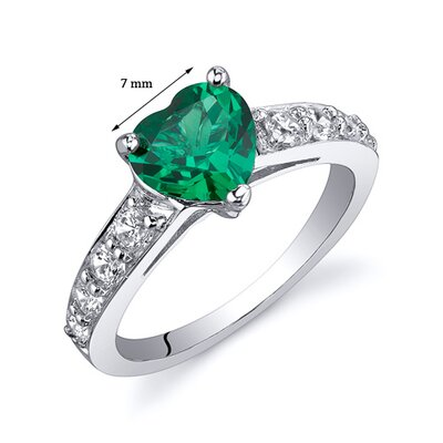 Oravo Dazzling Love 1 Carat Heart Cut Emerald Ring