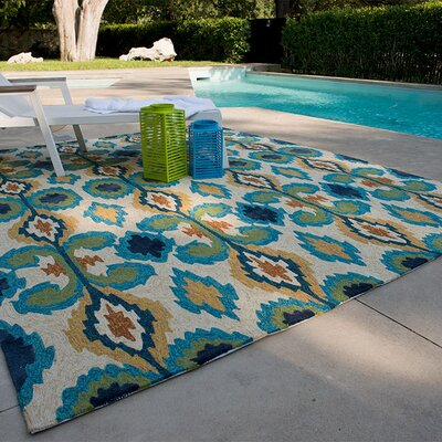 Loloi Rugs Enzo Ivory & Blue Indoor / Outdoor Rug