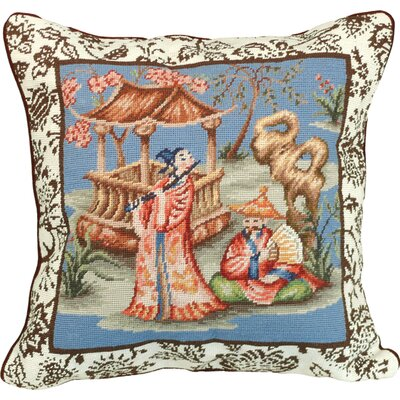 Chinoserie Needlepoint Pillow