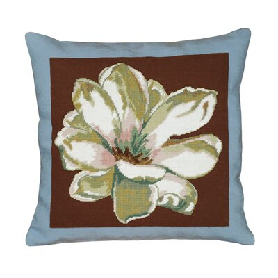 Magnolia Square Needlepoint Pillow
