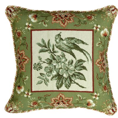Bird Needlepoint Pillow